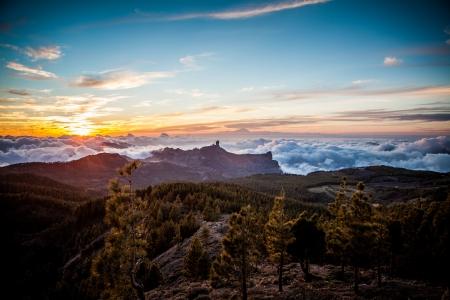 mount teide view from gran canaria high peak photo