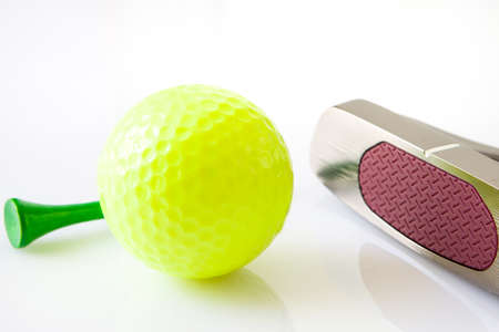 putter: golf accesiores with ball putter and stick