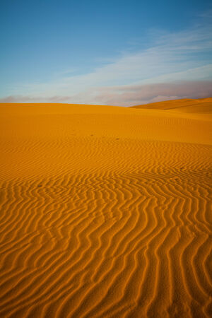 extreme heat: sand dunes in the desert of sahara in morocco