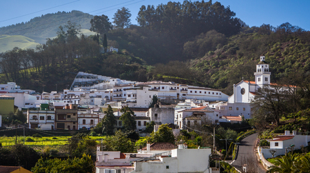 small village in gran canaria island under a blue sky day