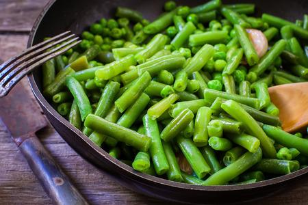 ejotes: cocinar judías verdes frescas en la sartén