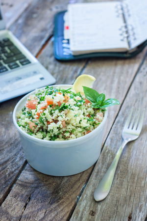 healthy snack: Healthy eating for lunch to work. Food in the office Stock Photo