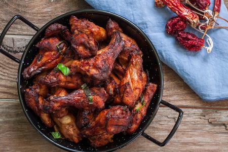 tandoori chicken: Crispy Tandoori Chicken Drumsticks with Mango Chutney