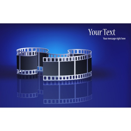 photo equipment: very nice vector film on a blue background