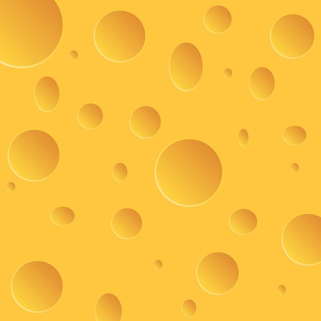 chees: Vector Illustration of orange cheese with holes