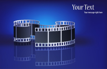 very nice film on a blue background Vector