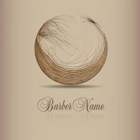 design for hair logo Vector