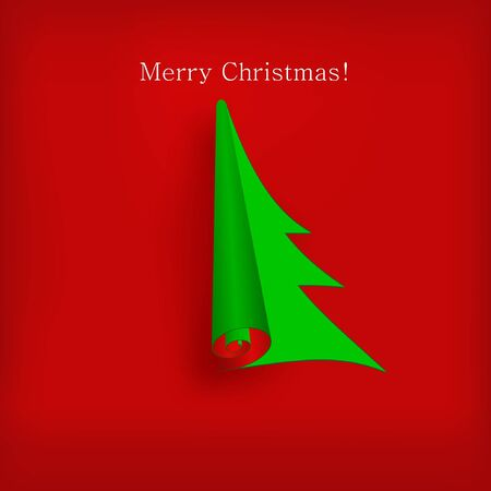 Vector Christmas tree for your design Vector