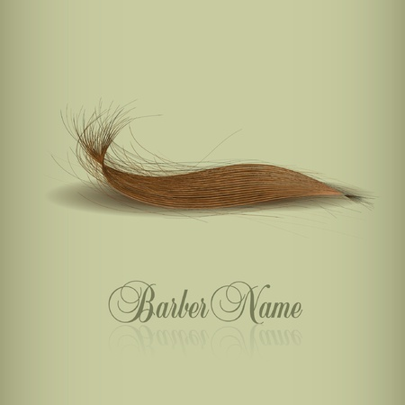 stilist: hair logo for your design. vector illustration Çizim