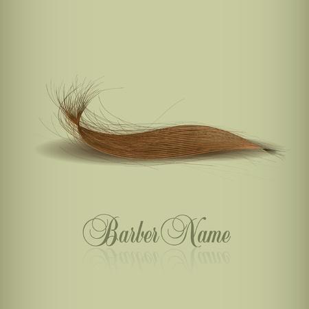 taglio capelli: logo capelli per la progettazione. illustrazione vettoriale