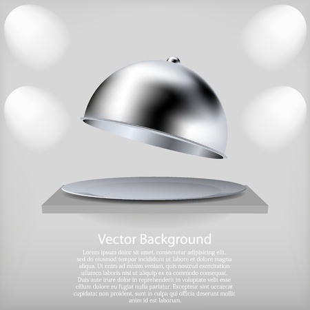 vector shelf with a open tray. Best choice Vector
