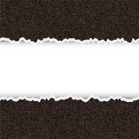 Vector desgarrado pedazo de papel rugoso con lugar para el texto