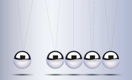 Vector Newtons cradle for your design Vector