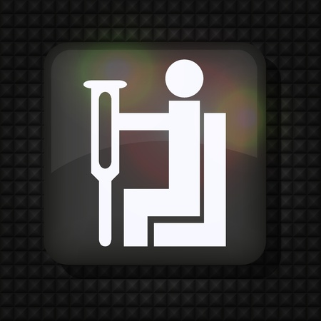 plaatsen voor gehandicapten pictogram op metalen. Vector illustratie Stockfoto - 11275691