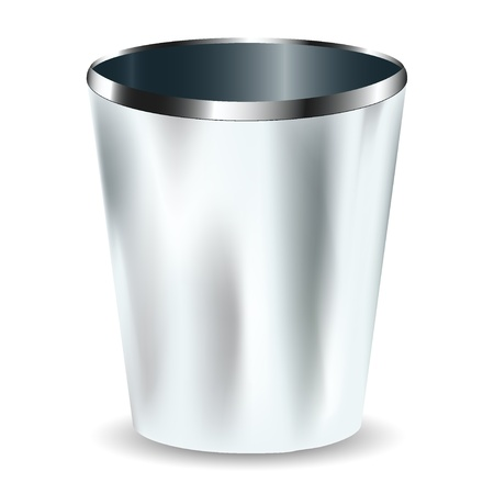 collins: hiking metallic goblet. vector illustration