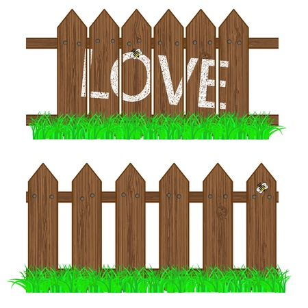 vector fence with grass for your design Stock Vector - 11299485
