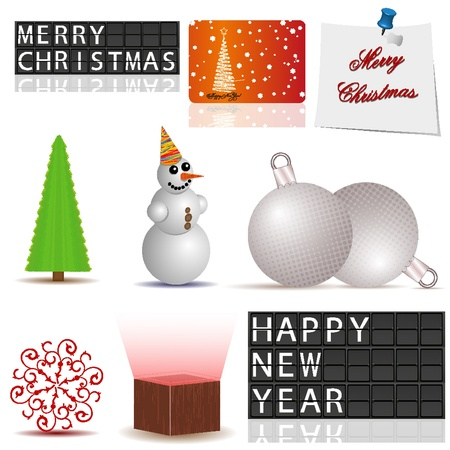 Vector set of Christmas elements for your design Vector