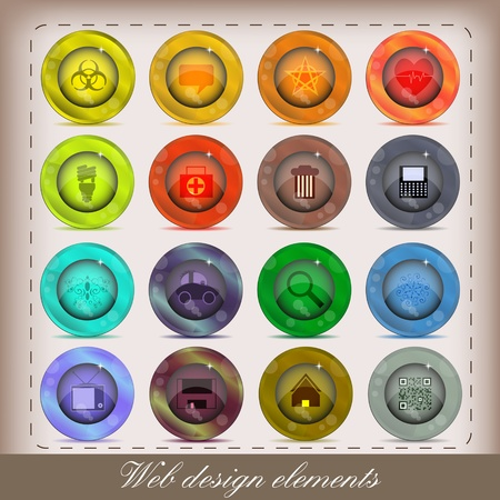 web icons set for your design Vector