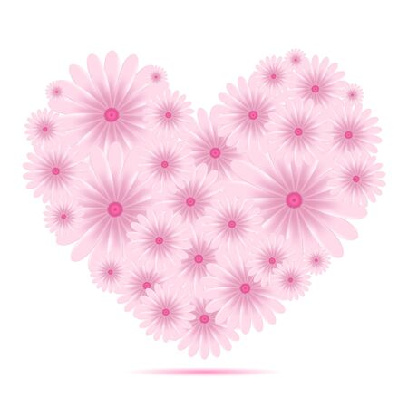 Vector creative heart of flowers Stock Vector - 11376889