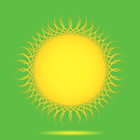 summer solstice: Vector sun background with place for your text. Only for your design