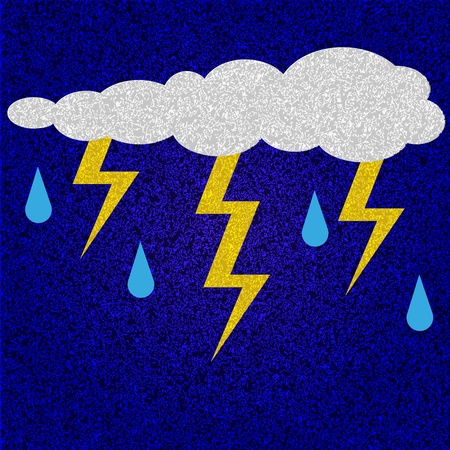 vector cloud with thunder Stock Vector - 11376908