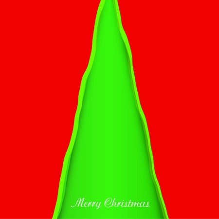 Creativity christmas tree. Vector illustration Vector