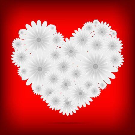 Vector creative heart of flowers background Stock Vector - 11376925