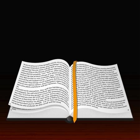 vangelo aperto: Vector Bibbia aperta. La scelta migliore Vettoriali
