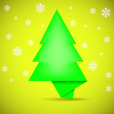 Speech bubble in the form of Christmas tree. creative vector background Vector