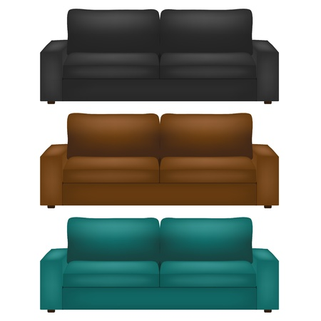 couch: Vector divan set. Best choice