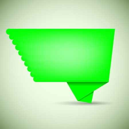 vector green bubble speech for your design Vector