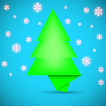 Speech bubble in the form of Christmas tree. creative vector illustration Vector