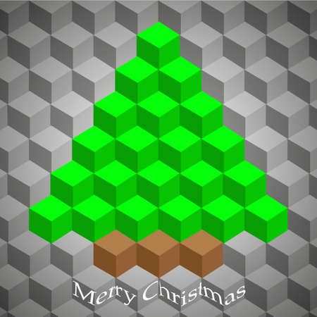 creative geometric Christmas tree. Vector illustration Vector