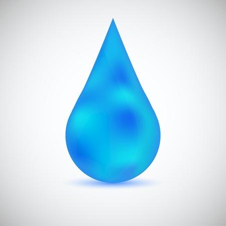 kropla deszczu: Kropla wody wektor do projektowania
