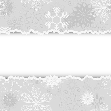 color separation: Torn christmas background with place for your text. Vector illustration