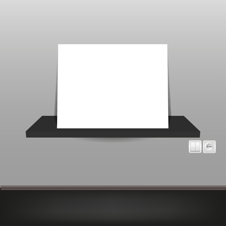 vector interior. empty paper on shelf with place for your text Stock Vector - 11659869