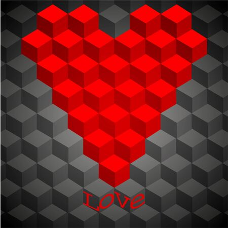 friend nobody: concept geometry heart. vector illustration. Best choice