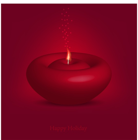 beautiful candle for happy holiday. Vector illustration. Best choice Vector