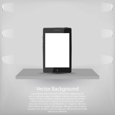 phone on shelf. Vector background Stock Vector - 11659694