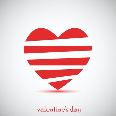 amour: Concept heart for Valentines day. Vector illustration