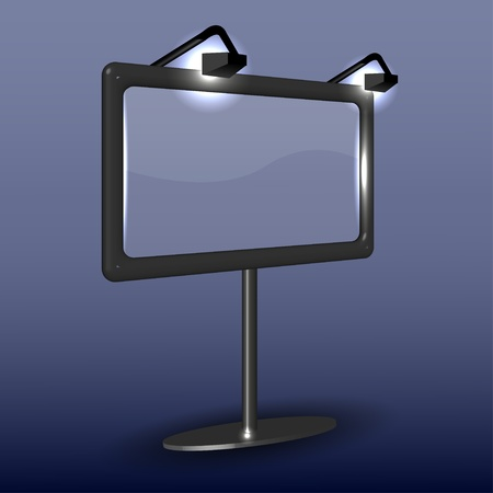 billboard on blue. Vector illustration Stock Vector - 11659572