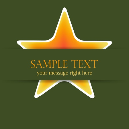 star background with place for your text. Vector illustration Vector