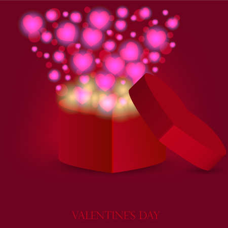 love gift for valentines day. Vector illustration Vector
