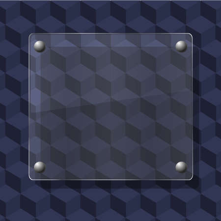 glass on geometric background. Vector illustration Vector
