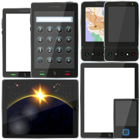 Vector computer tablet and smartphone set for your design. Best choice Stock Vector - 11657068
