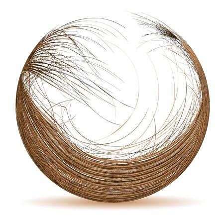 pelo ondulado: Cabello s�mbolo para su dise�o. Ilustraci�n vectorial. La mejor opci�n