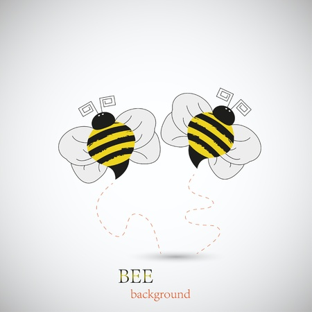 Bee for your design. Vector illustration. Best choice Vector