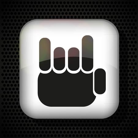 rallying: los dedos como un abanico. Ilustraci�n del vector. La mejor opci�n