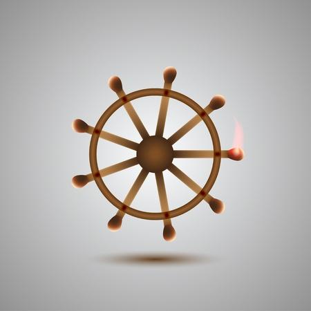 burn out: overeenkomen concept voor uw ontwerp. Vector illustratie Stock Illustratie