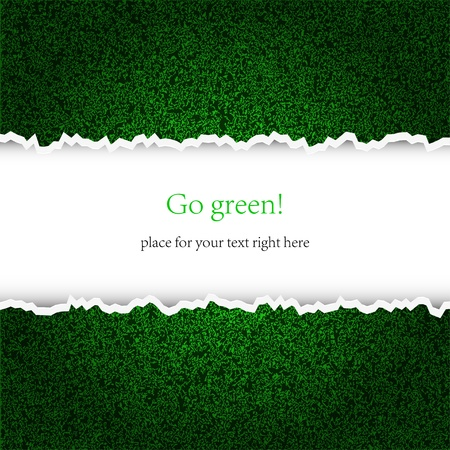 footbal: Creative green background with place for your text. Vector illustration